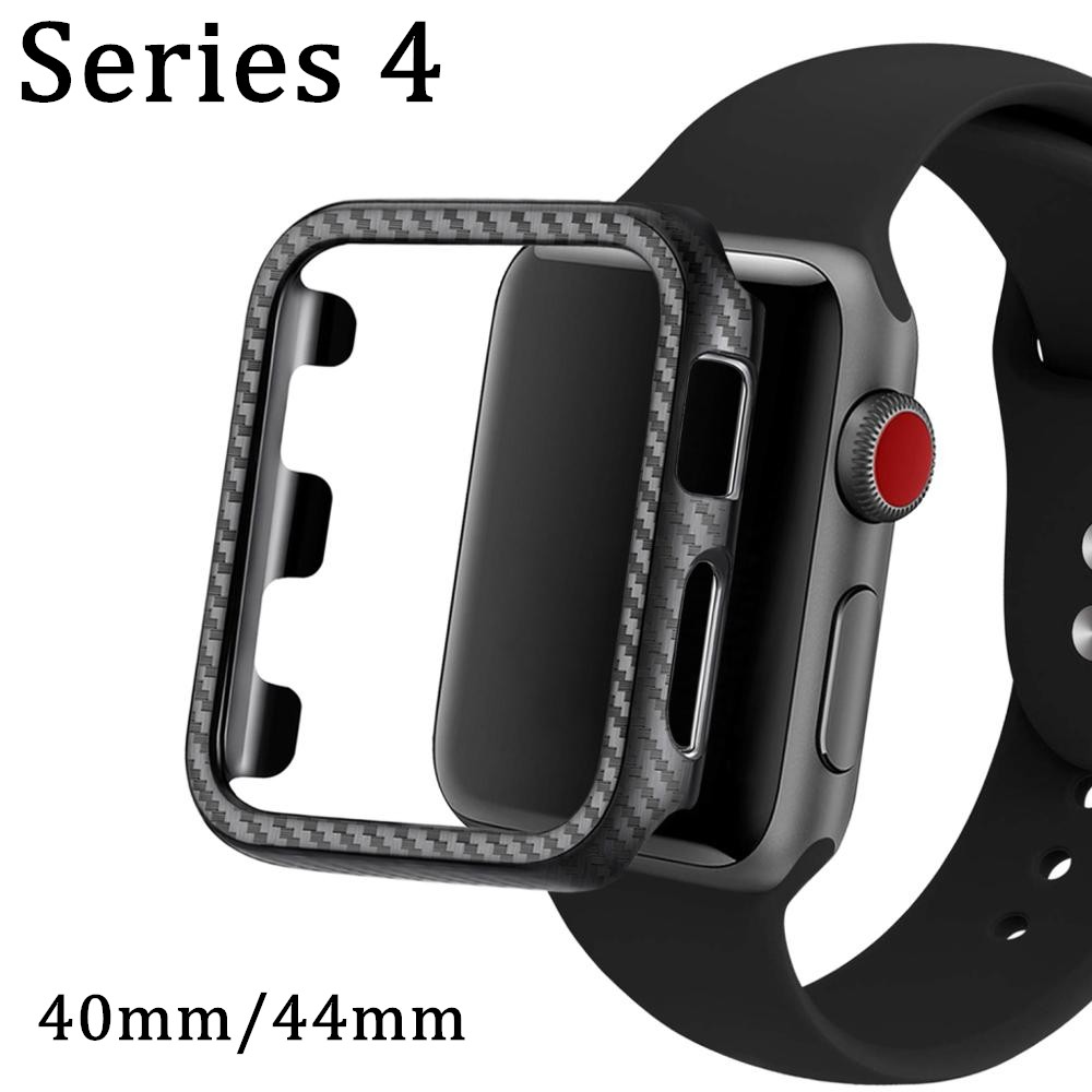 NEW Frame Carbon Fiber Watch Band Accessories Case Cover For Apple Watch 40mm 44mm for iWatch Series 4 Protective Protect BumperNEW Frame Carbon Fiber Watch Band Accessories Case Cover For Apple Watch 40mm 44mm for iWatch Series 4 Protective Protect Bumper