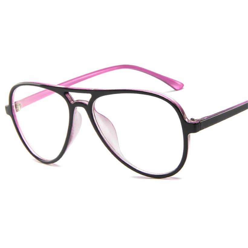 Модные ретро очки в стиле пилота, оправа для женщин и мужчин, большие оправы для очков, прозрачные линзы, поддельные очки