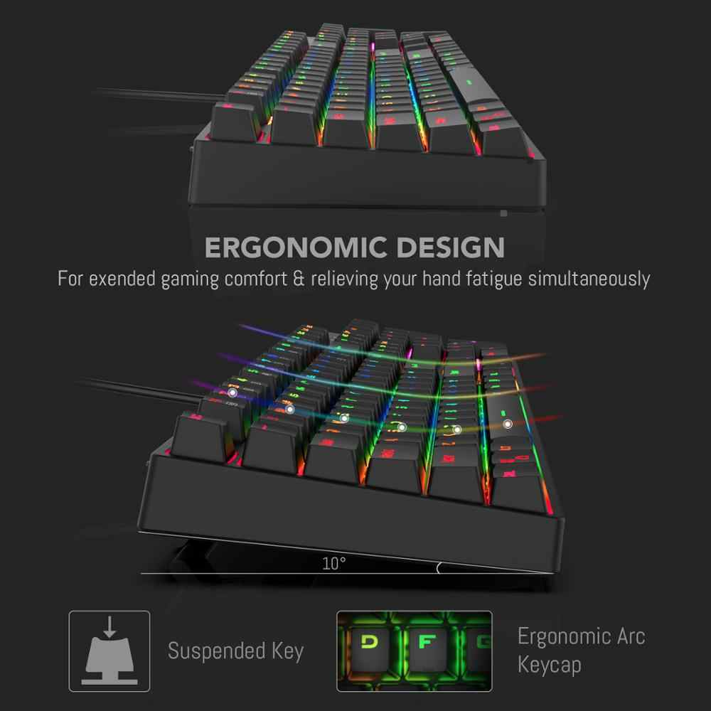 Redragon K582-BA Combo Wired Mechanical Gaming Keyboard & M711 Cobra Gaming  Mouse 10000DPI 7 Programable Buttons RGB LED for CS