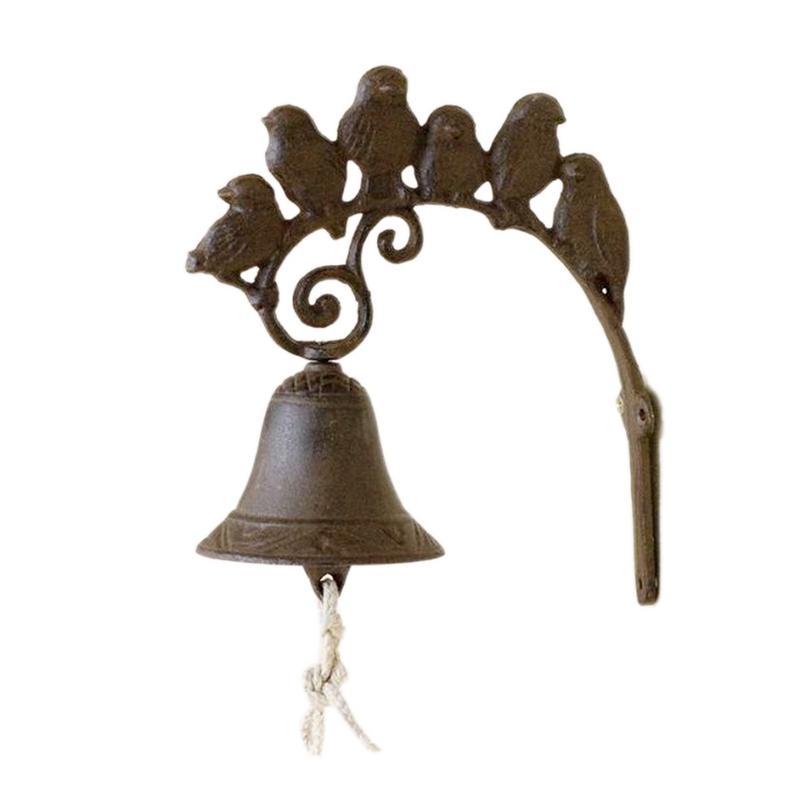 Cast Iron Rustic Vintage Bird Bell For Door Entrance Or Porch Indoor Or Outdoor Wall DecorationCast Iron Rustic Vintage Bird Bell For Door Entrance Or Porch Indoor Or Outdoor Wall Decoration