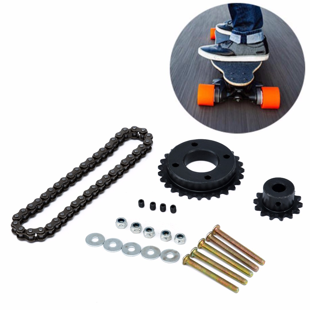 Image 2 - New Electric Longboard Skateboard Replace Part Sprocket Chain Wheel DIY Set Replacement Skate Board Accessories-in Skate Board from Sports & Entertainment