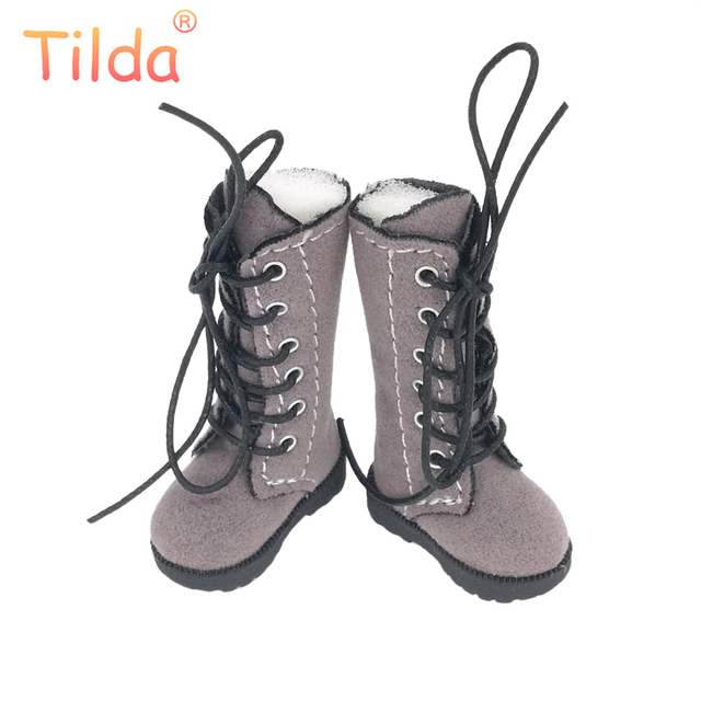 Botas Boneca Tilda 3.2 cm para Blythe Boneca de Brinquedo, 1/8 Mini Couro Sapatos para Blyth Azone Bonecas BJD, fantoche casuais Sapatos Acessórios