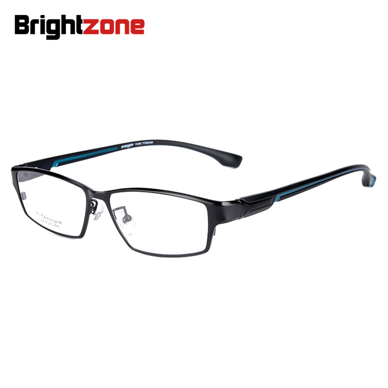 Image 3 - Brightzone Fashion Full Rim Ultra Light weighted Flexible IP Electronic Plating Metal Titanium Rim Glasses Men Eyeglasses Frame-in Men's Eyewear Frames from Apparel Accessories