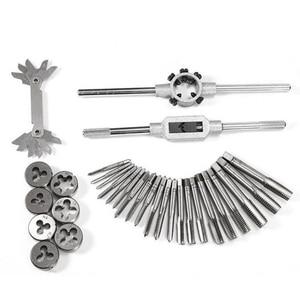 Image 2 - 32pcs in 1 Metric Hand Tap Set Adjustable Taps Dies Wrench Screw Thread Plugs Straight Taper Reamer Tools For Car Repairing Tool
