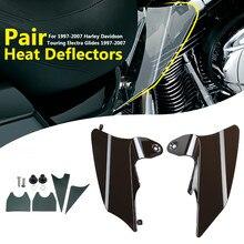 2 шт мотоцикл тепловой щит седло воздушный дефлектор для Harley 1997-2007