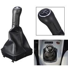 5 prędkość gałka zmiany biegów do samochodu dźwignia zmiany biegów dźwigni zmiany biegów obudowa do VW dla POLO MK4 9N 9N2 2002-2009 tanie tanio Dla Volkswagena 24 5 PU Leather Plastic Auto Shifter Knob Stick Autoleader for VW POLO Mk4 9N 9N2 2002-2009