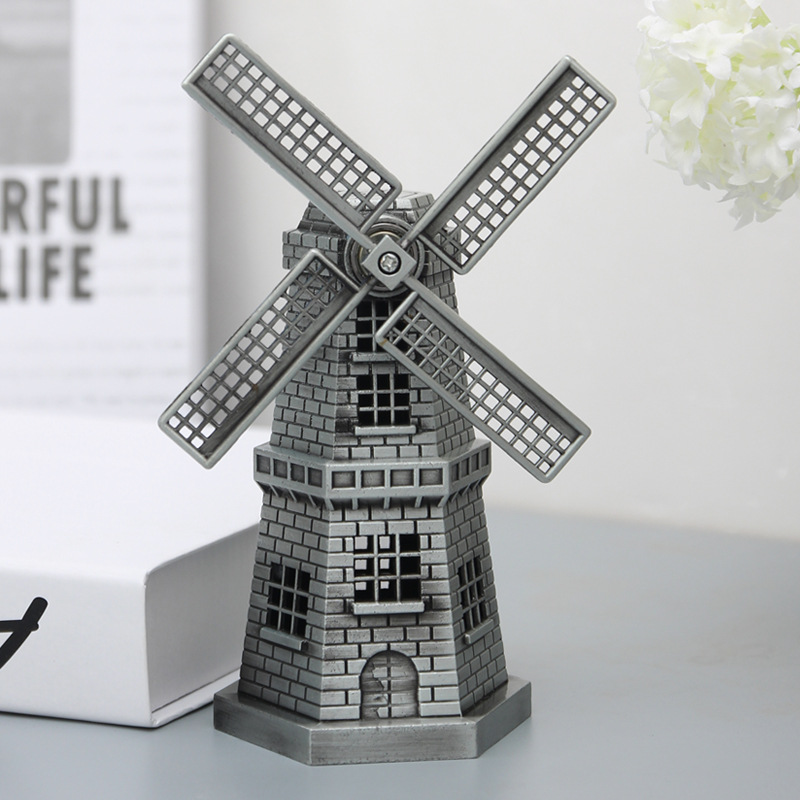 3 Colors Vintage Windmill Dutch Toy windmill Ornaments Europe Models Gifts Furnishing Articles Home Decoration Birthday gift in Action Toy Figures from Toys Hobbies