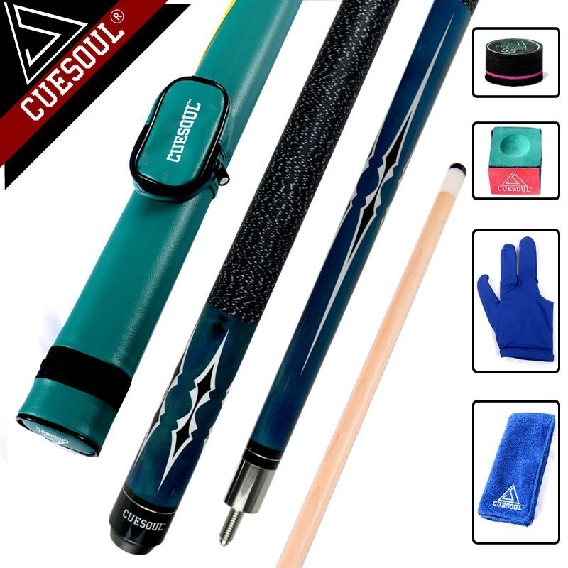 CUESOUL Maple Billiard Cues Shaft 11.5mm/12.75mm Tips 1/2 Split Pool Billiards Cue Stick 58 Inch With Case