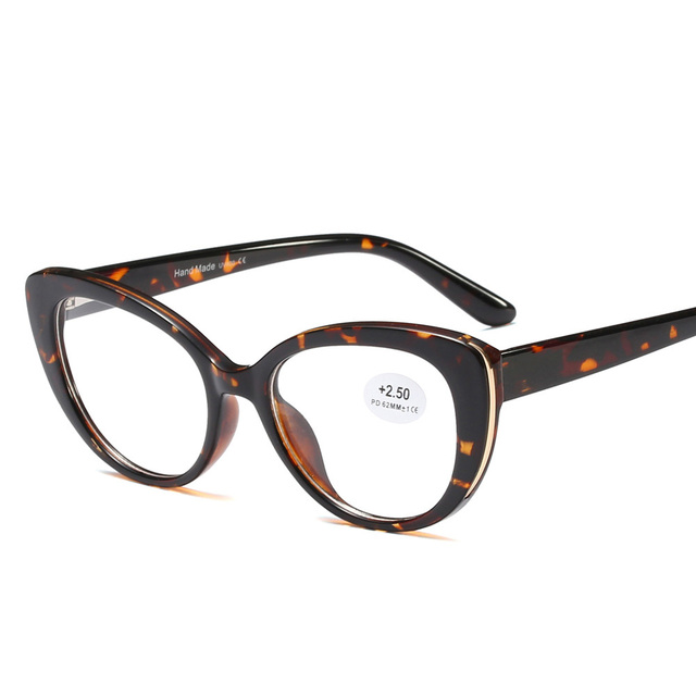 ddc62ecd1 Fashion Women Reading Glasses Cat Eye Female Eyewear For Read Presbyopic  Spectacles Diopter Acetate Eyeglasses 0