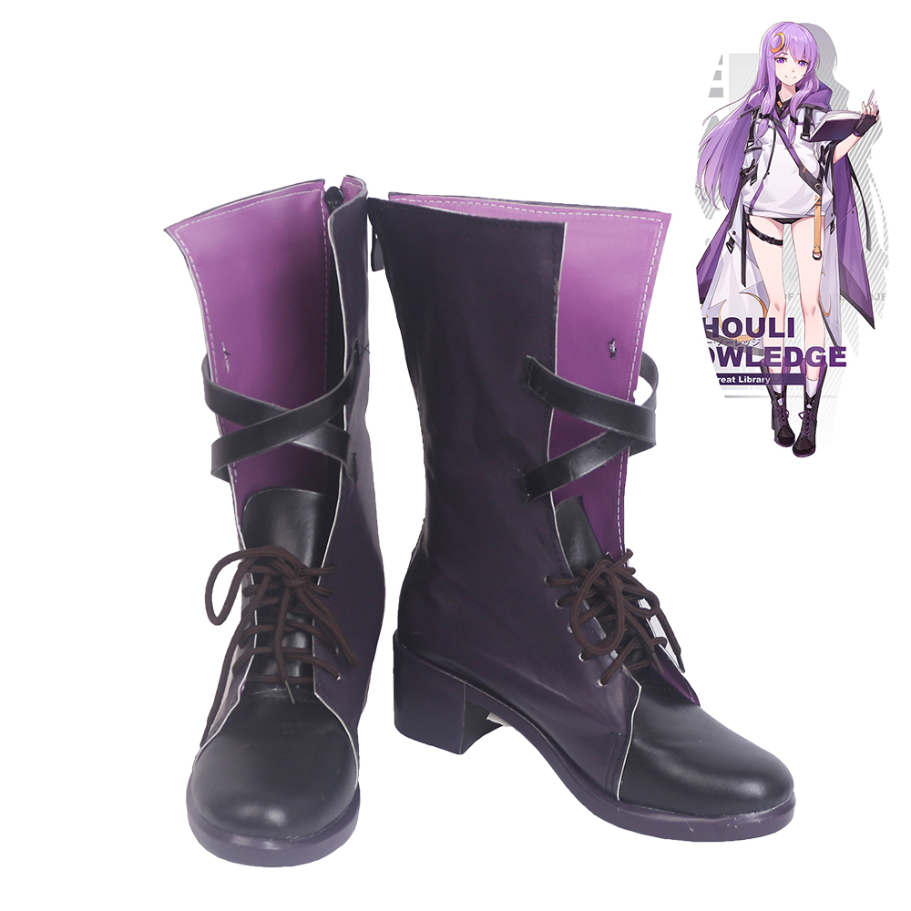 TouHou Project Patchouli Knowledge Cosplay Shoes Women Boots