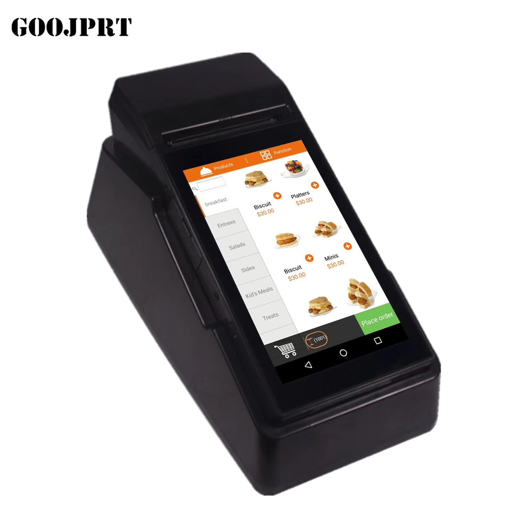Hot Sale] Mini Android mobile pos terminal With 58mm thermal Printer