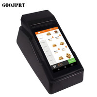 Android6.0 mobile thermal printer Handheld Pos terminal bluetooth wifi Android Rugged PDA 3G label printer 80mm pda