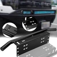 MAYITR Bull Bar Bumper Front License Plate Universal Mounting Brackets For Off Road Work Light Led Bar