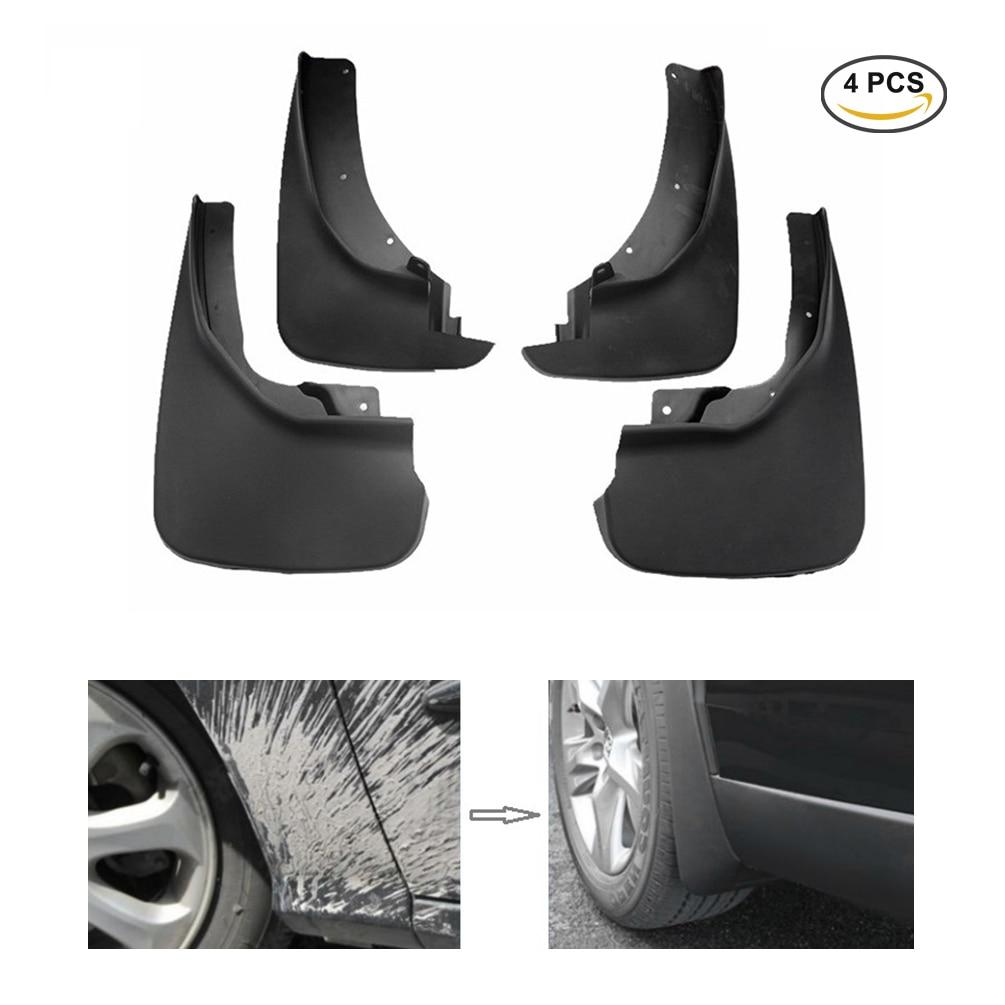 Car Custom Mud Flaps Splash Guards for Ford Ranger 2011-2018 Fender Flares Mudflaps Mudguards Front and Rear Wheel 4Pcs