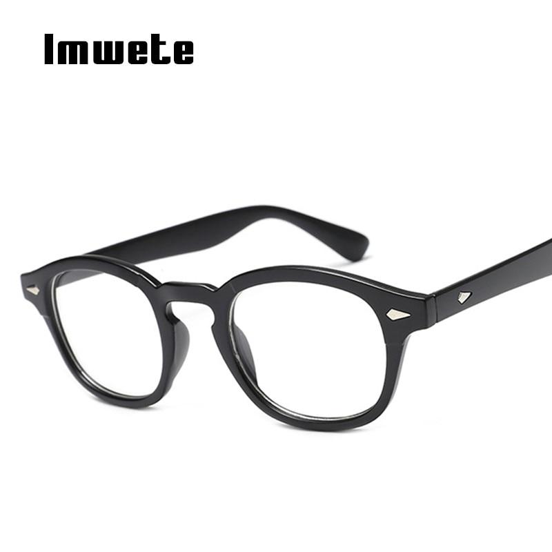 21d9dde84d7 Imwete Johnny Depp Style Glasses Frame Men Women Classic Brand Clear Lens  Glasses for Women Retro