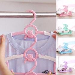 10 pc durável cabides roupas de bebê telescópica roupas bonito dos desenhos animados cabides cabides crianças cabides cabide de plástico do bebê