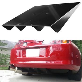 "22"" x 19.3"" Vehicle Car Modified Deflector Spoiler Splitter Diffuser ABS Rear Bumper Universal"
