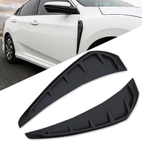 Side Marker Air Flow Side Fender Air Wing Vent Body Cover Sticker Trim for Honda Civic 2016 To 2018 Car Accessories Car Styling