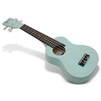 IRIN 21 Side Hole Solid Wood Ukulele Pale Blue Lily Beatiful Color Unisex Beginner Home schooling Musical Instrument Ukulele