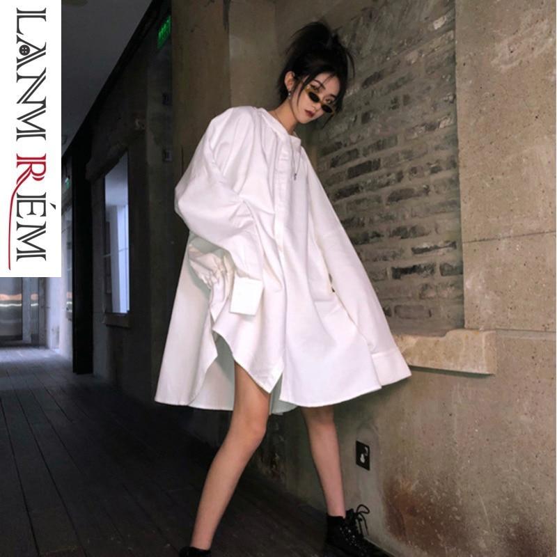 Blouse Lanmrem Femelle white Black Grande 2019 Noir D'été Nouveau Taille Femmes Hme Tendance Pour Qf036 Lâche Évent Shirt Printemps Blanc Confortable ATzAfwx