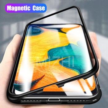 1b99535f2b5 Para Samsung Galaxy A30 caso Samsun A50 caso de vidrio claro caso para  Samsung Galaxy 50 30 30a a505f de vuelta funda protectora de Metal