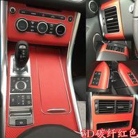 Car Styling 3D Carbon Fiber Car Interior Center Console Color Change Molding Sticker Decals For Land Rover Range Rover Sport