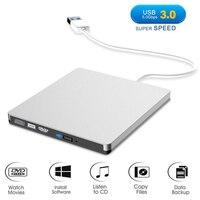 محرك أقراص DVD USB 3.0 قارئ مشعل مشغل بصري CD RW مشعل مسجل خارجي محمول محرك CD RW/DVD RW #1109-في محركات الأقراص الضوئية من الكمبيوتر والمكتب على