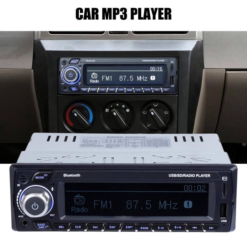 Lecteur MP3 voiture Support câble Audio Bluetooth entrée lecture fonction Radio grand écran affichage