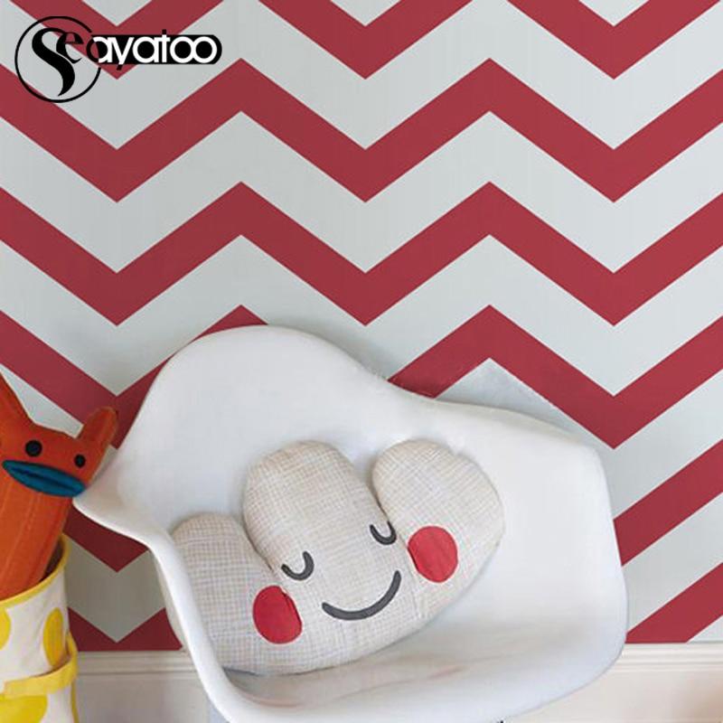 Zig Zag Seamless Pattern Chevron Vinyl Wall Sticker Decal Modern Home Bedroom