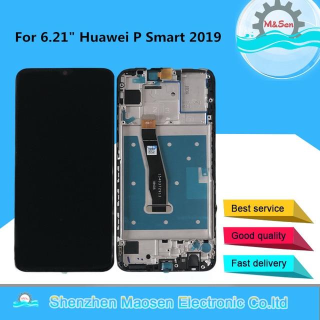 "Original M&Sen 6.21"" For Huawei P Smart 2019 LCD Display Screen+Touch Panel Digitizer For POT LX1/POT LX1AF/POT LX2J With Frame"