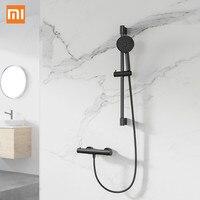Ev Aletleri'ten Kişisel Bakım Aletleri Parçaları'de 11 üç dua desen tek elle düğme dönebilen tasarım Holding duş hortumu kaldırma kolu 11 Youpin