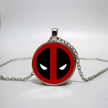 Deadpool Glass Necklace Time Gem DIY Custom Photo Personality Gift personalized