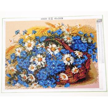 YOGOTOP Bricolage Diamant Peinture Broderie Complète 5D Carré/rond Foret Mosaïque Strass Décor Rose Cerisier Fleurs Arbre 4 Pièces ML665