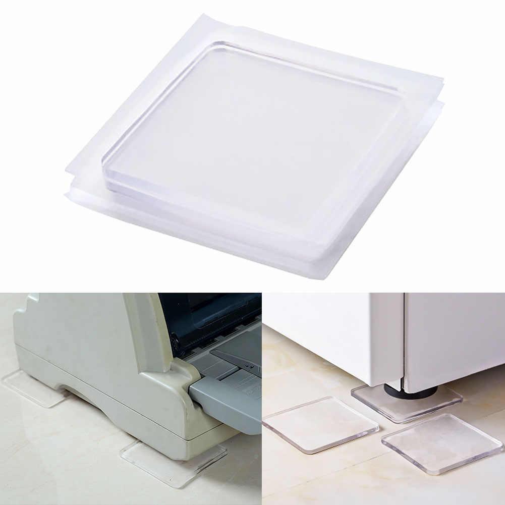 4 ピース/セット透明洗濯機シリコーンパッドポータブル防振ノンスリップマットの衝撃吸収パッド
