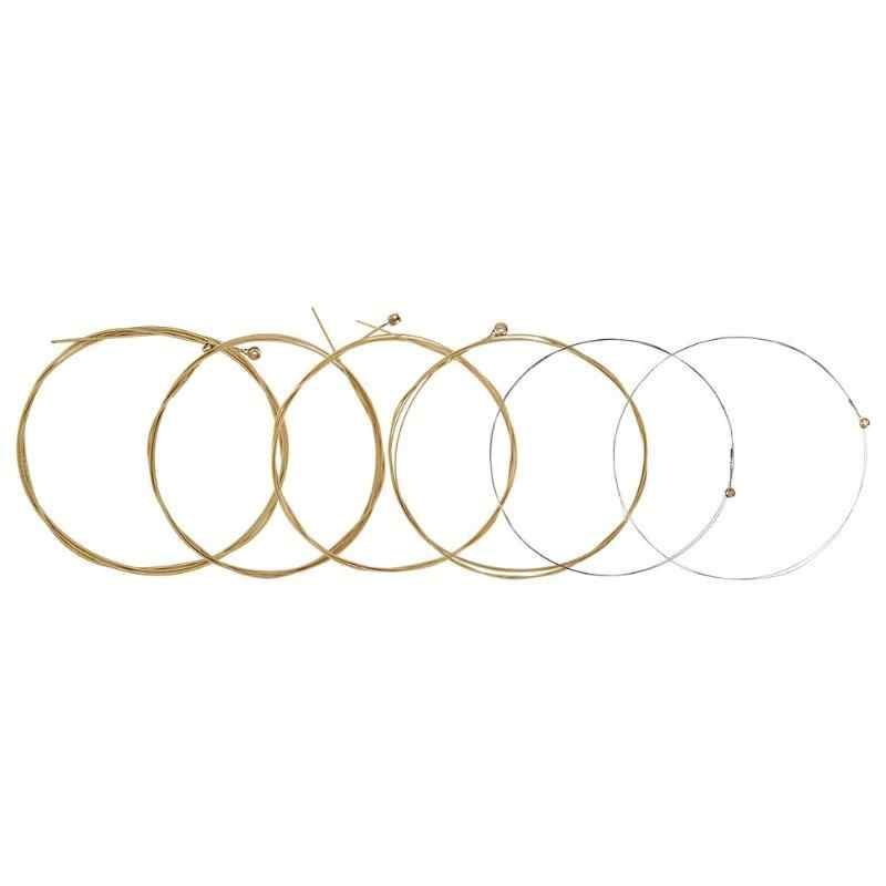1pc Guitar Strings Set Brass  Wooden Guitarra Accessories 41 Inches Folk Acoustic Guitar Parts Musical Instruments 1st-6th