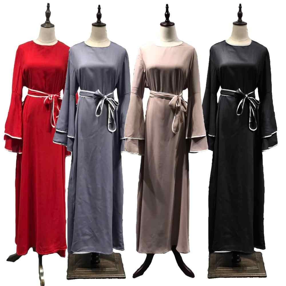 ОАЭ платье Дубая арабских Ислам Для женщин долго мусульманин кимоно кардиган платье хиджаб турецкий Мубарак Ислам ic Костюмы с расклешенными рукавами