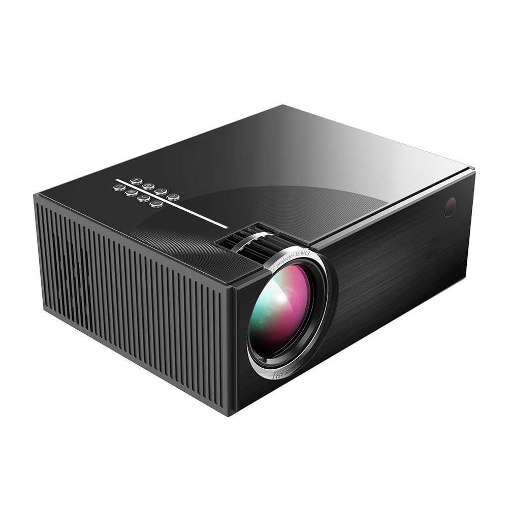 Полный светодиодный hd-проектор 1080 P Поддержка ed 50000 часов лампы Поддержка жизни HD/USB/VGA/AV/наушники/sd-карта вход