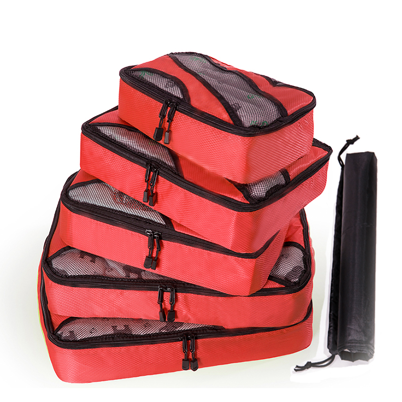 Man/Women/Luxury/Big Travel Bag OrganizerCompression Packing Cubes Mesh Cloth Luggage Packing Cube Organizer Kits Travel Bags