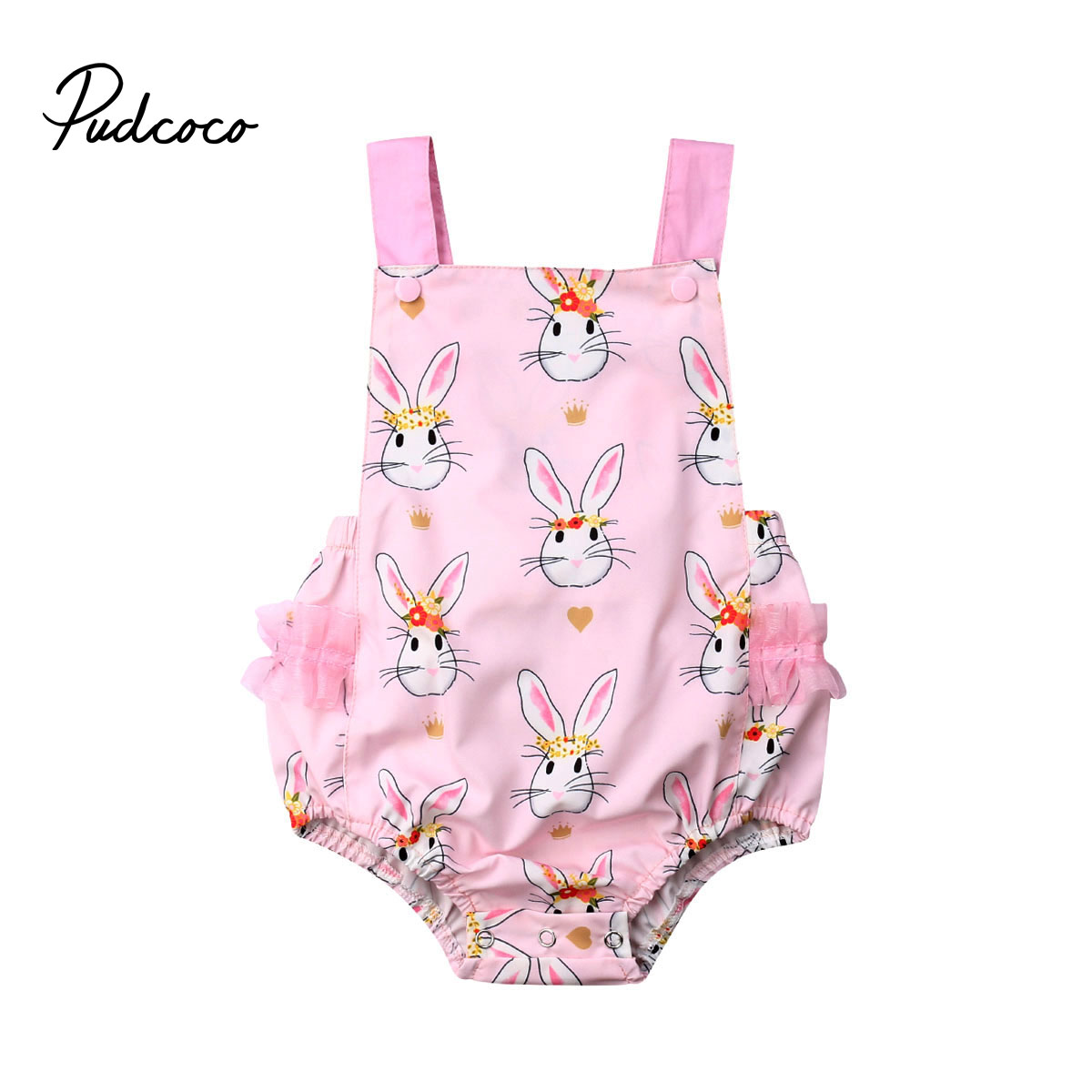 Newborn Baby Girls Easter   Romper   Rabbit Jumpsuit Cotton Clothes Outfit Set for infant clothes children kid toddler
