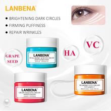 LANBENA Vitamin C Eye Cream Eyes Serum Hyaluronic Acid Moisturizing Anti-wrinkle Anti Aging Ageless Dark Circle Skin Care 20g