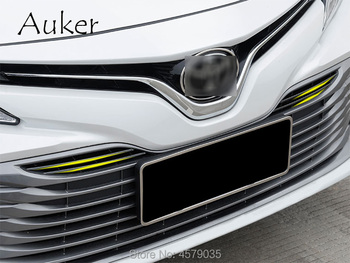 Refit Front Hood Billet Grille Grill Mesh Horizontal Car Stickers Car Styling 4Pcs/Set For Toyota Camry XV70 2017 2018 grille