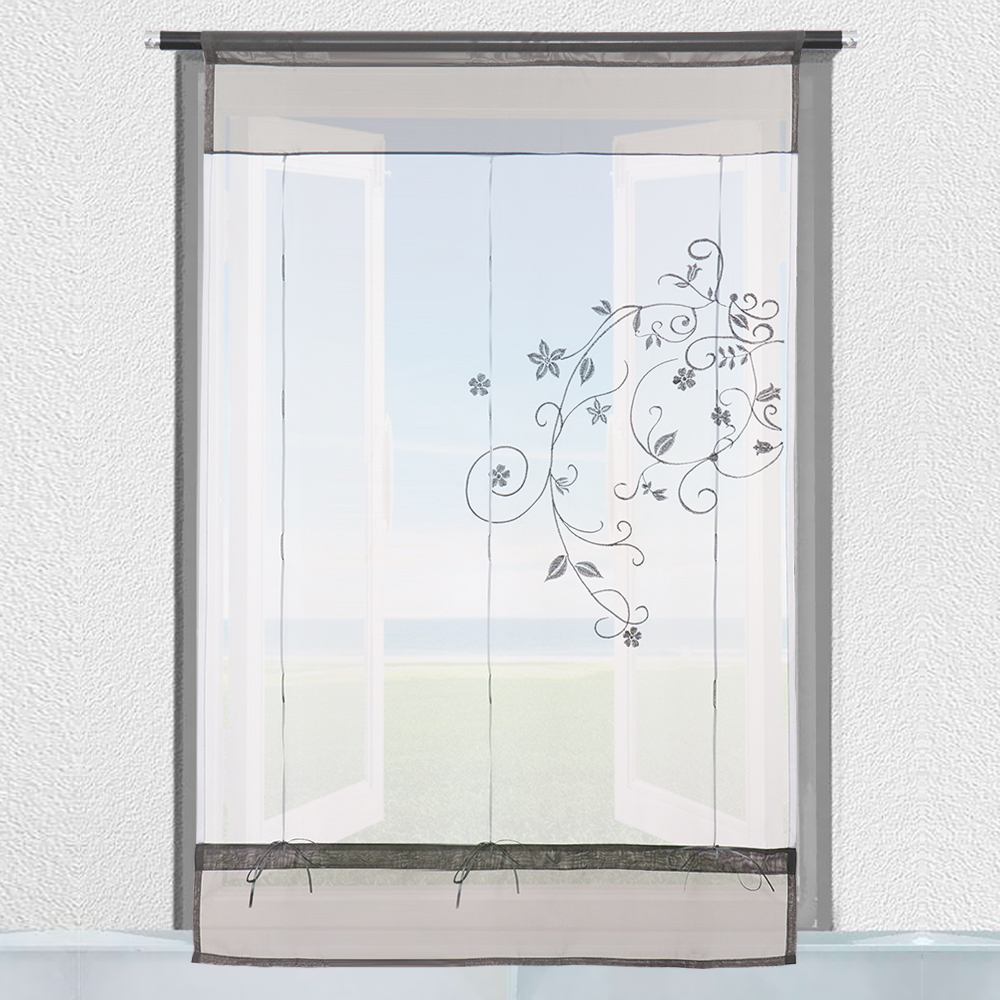 1 St Curtains Window Tule Voile Curtain Popular Beautiful Polyester Transparent Embedded Pastoral Home Decor