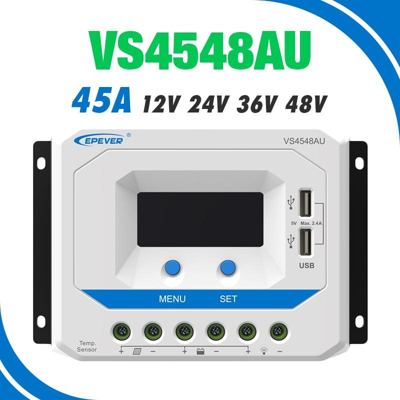 12/V//24/V r/égulateur de Charge PWM epever/® vs4524au 45/A D/étection automatique