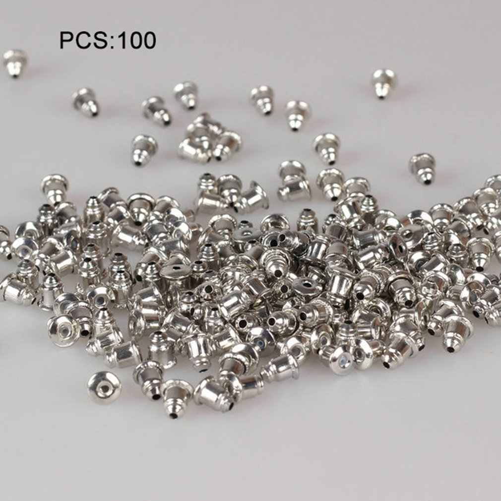 Jewelry Wholesale Plating Thick Silver Bullet Ear Blocks Foot 100 Pack