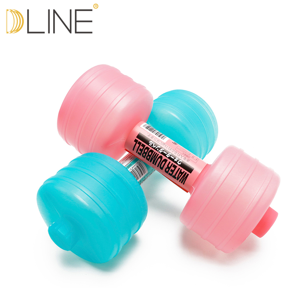 Dline 1pcs 1kg New Injection Water Dumbbells For Fitness Aquatic Barbell Gym Weight Loss Exercise Equipment Women Comprehensive
