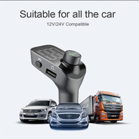 Bluetooth Wireless Car Mp3 Player Handsfree Car Charger Kit FM Transmitter A2DP 5V 2.1A USB Charger LCD Display Car FM Modulator
