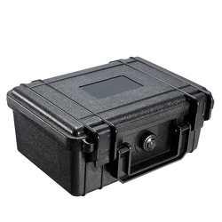210x165x85 мм водонепроницаемый жесткий футляр для инструмента сумка для хранения с губкой черный чехол для переноски объектива камеры