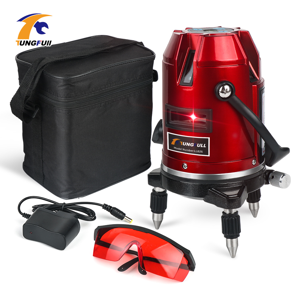 360 Self Leveling Laser Level Machine 5 Lines 6 Points 360 Vertical Horizontal Tilt rotary 635nm