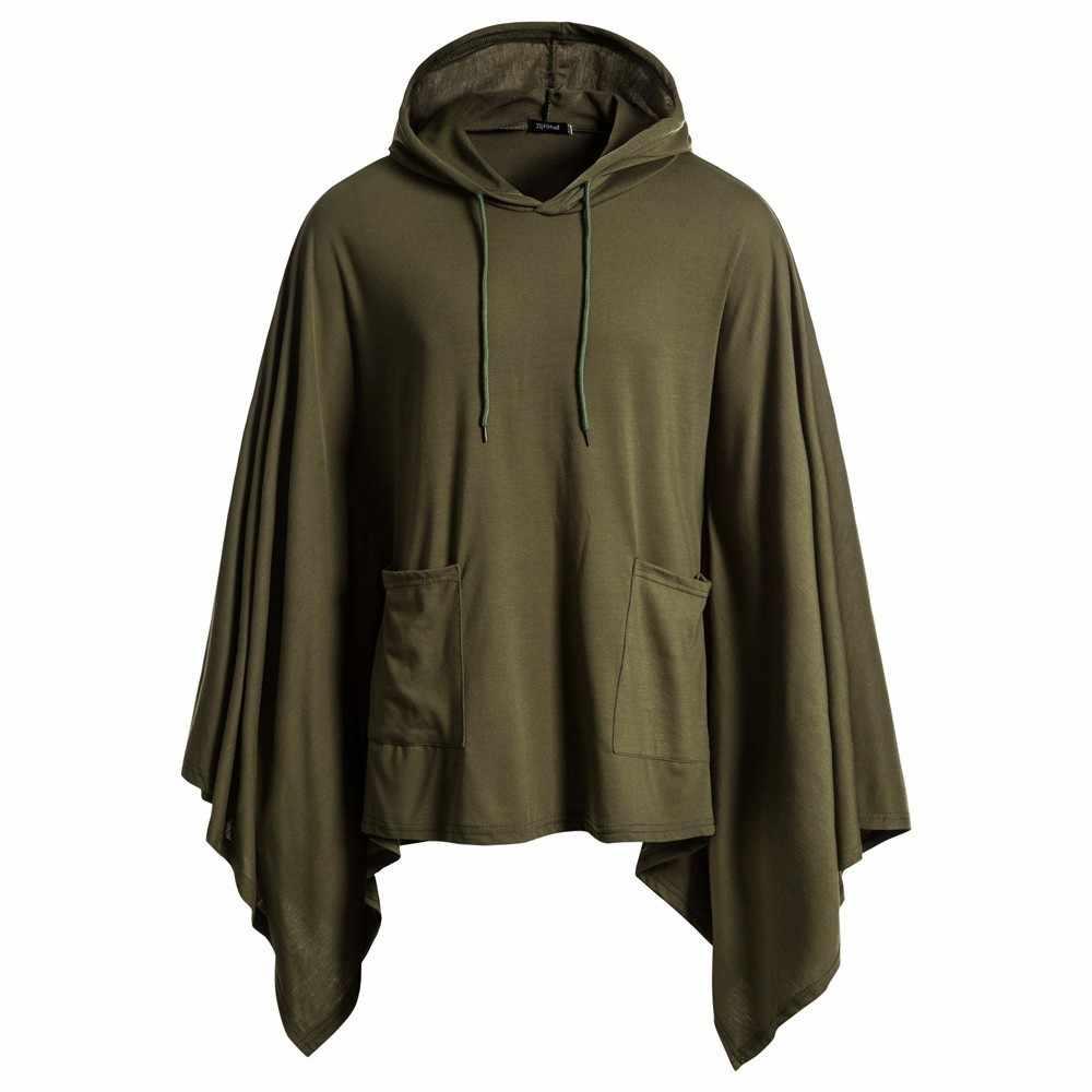 2019 nueva Sudadera con capucha de Color sólido con capucha para hombre de calle
