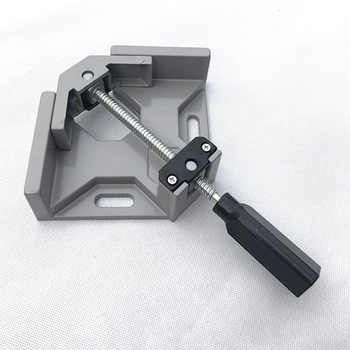 Aluminum Single Handle 90 Degree Right Angle Clamp Woodworking Frame Clip Right Angle Folder Tool Right Angle Clamp Hand Tools - DISCOUNT ITEM  26% OFF All Category
